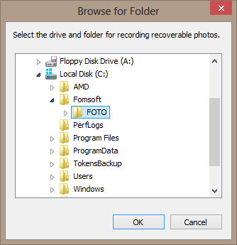 Query recording folder recoverable photos.