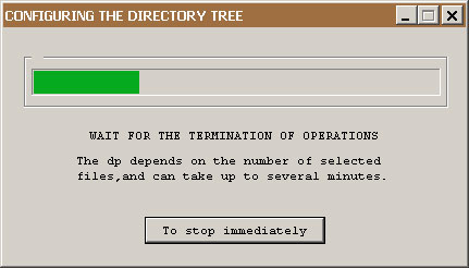 Notice the user about the configuration directory tree.